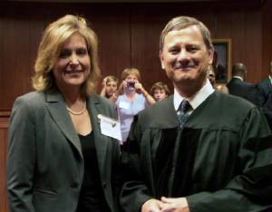 Kerry Sutton sworn in to the U.S. Supreme Court Bar by Chief Justice John G. Roberts, Jr